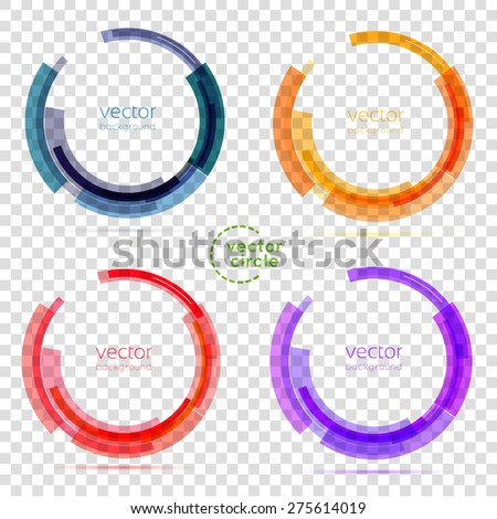 Circle set. Vector illustration. Business Abstract Circle icon. Corporate, Media, Technology styles vector logo design template. transparent - stock vector