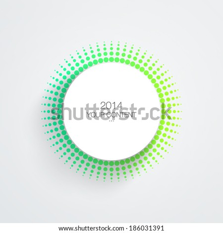 Circle text box design with colorful dots eps 10 vector illustration - stock vector