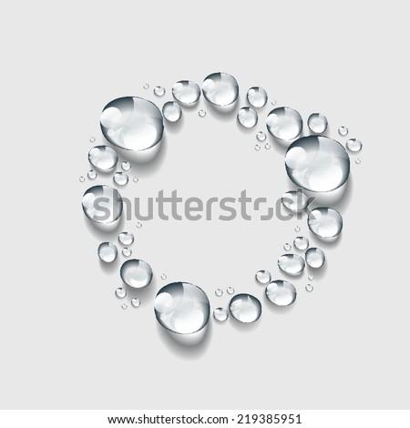 circle, Transparent water drop vector - stock vector