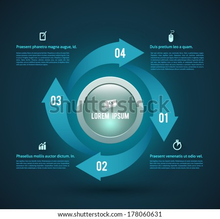 Circle vector arrows concept. can use for business concept. idea object, printing object for brochure, concept modern design template , diagram, step up options. - stock vector