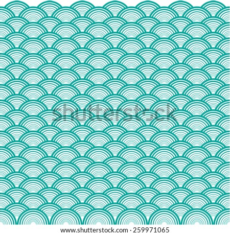 Circle wave overlap background - stock vector