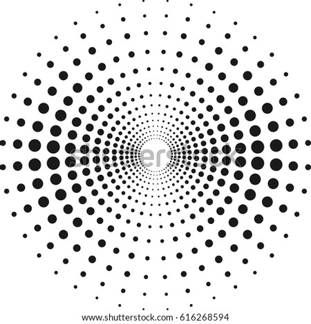 Circle Dots Design Project Halftone Effect Stock Vector HD (Royalty ...