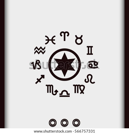 Astrology stock photos royalty free images vectors for Thin line tattoo artists near me