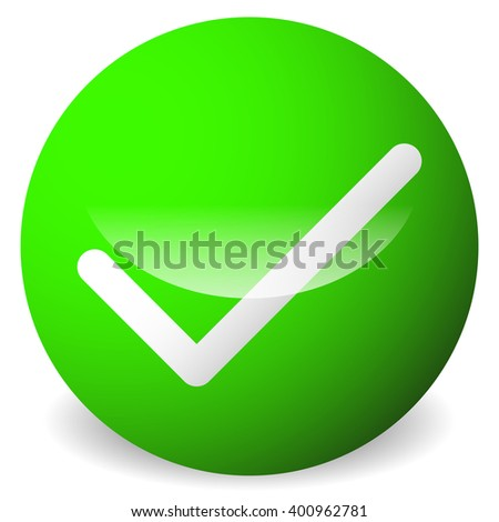 Circle with tick, check mark symbol. Approve, correct, accept, right, validation icon. - stock vector