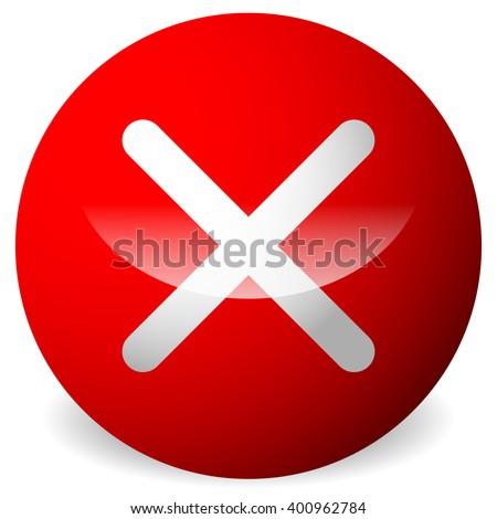 Circle X Symbol Cross Delete Remove Stock Vector Hd Royalty Free