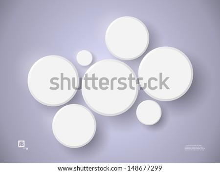 circles background, vector - stock vector