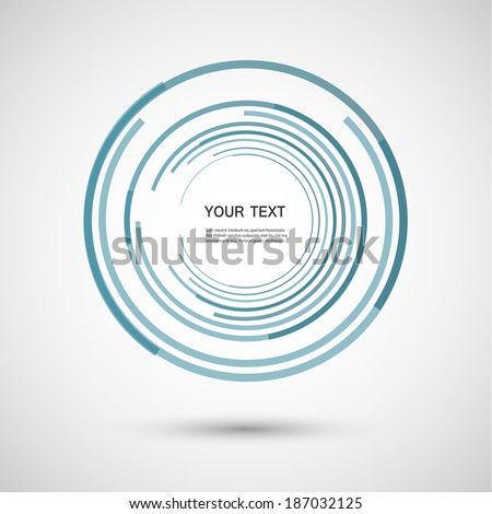 Circles of lines eps - stock vector