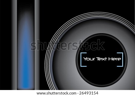 Circles on black background