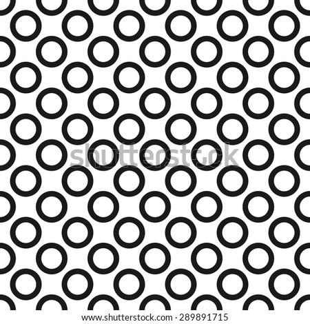 circles seamless pattern - stock vector