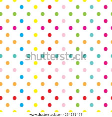 circles seamless texture, vector illustration - stock vector
