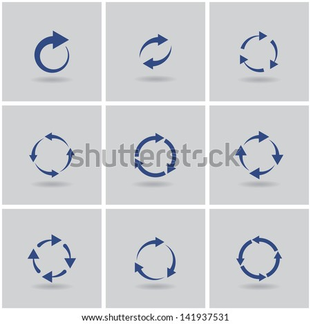 circles signs of recycling. vector set. eps10 - stock vector