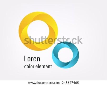 Circles vector design element - stock vector