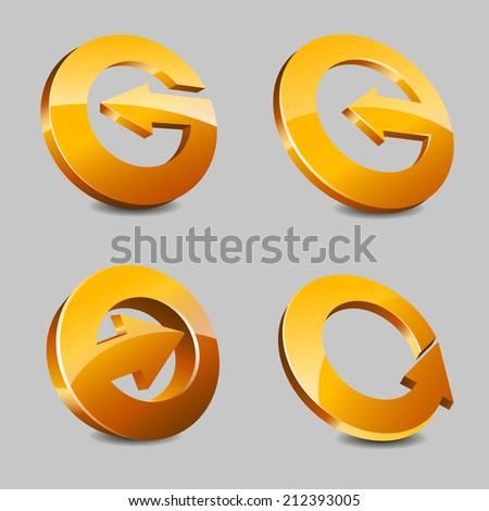 Circles with Arrows - stock vector