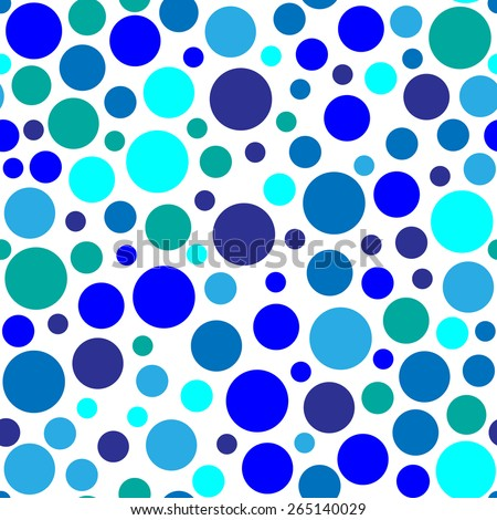 Circles with different colors that create a seamless background. abstract solution - stock vector