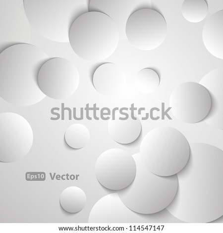 Circles with drop shadows