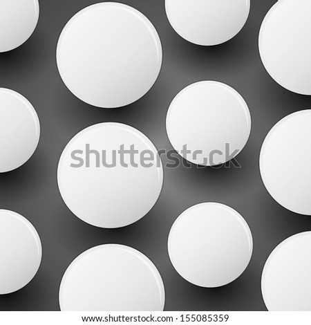 Circles With Shadow | Abstract Background - stock vector