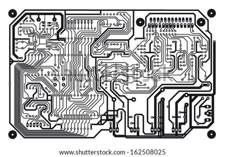 circuit board - stock vector