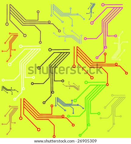 Circuit board - stock vector