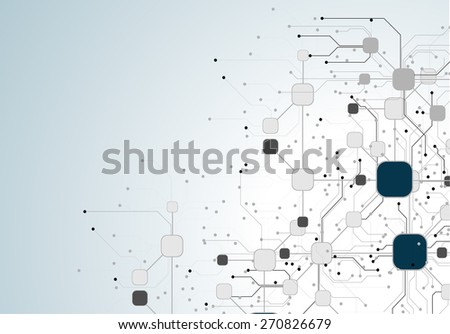 circuit board abstract technology circuit board vector background - stock vector
