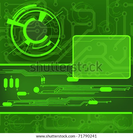 circuit board background. EPS10 - stock vector