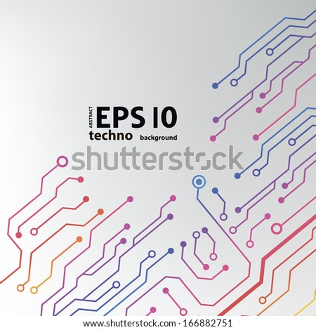 circuit board background. eps10 vector illustration  - stock vector