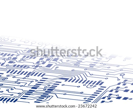 Circuit Board Background Fade - stock vector