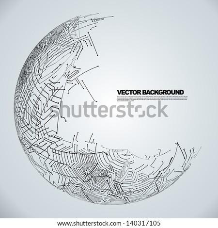 circuit board background texture - stock vector