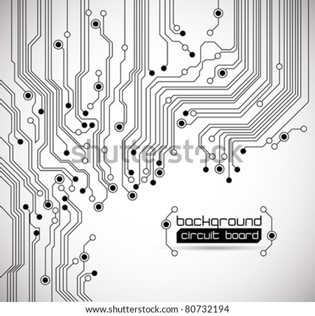 circuit board background texture - stock vector