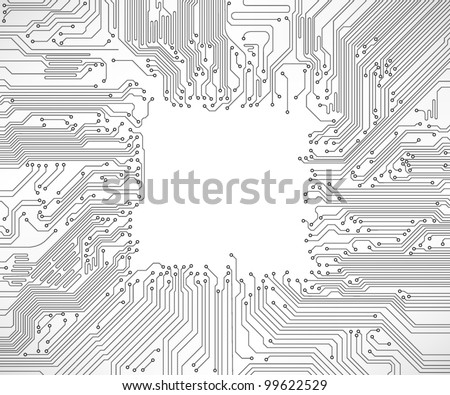circuit board background vector - stock vector
