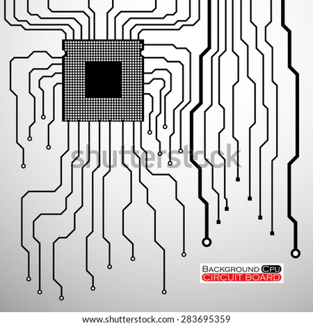 Circuit Board. CPU. Vector illustration. Eps 10 - stock vector