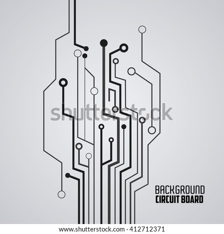 Circuit Board Design Technology Electronic Concept Stock Vector ...