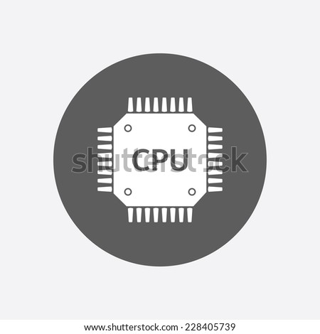 Circuit board  icon. Technology scheme square symbol. Flat design style. - stock vector