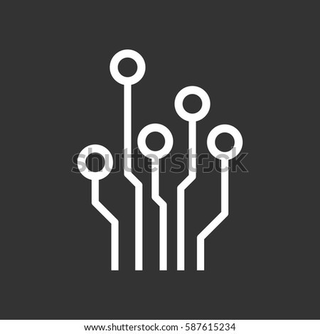 Circuit Board Icon Technology Scheme Symbol Stock Vector (2018 ...