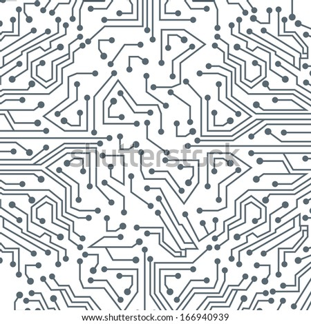 circuit board over white background vector illustration   - stock vector