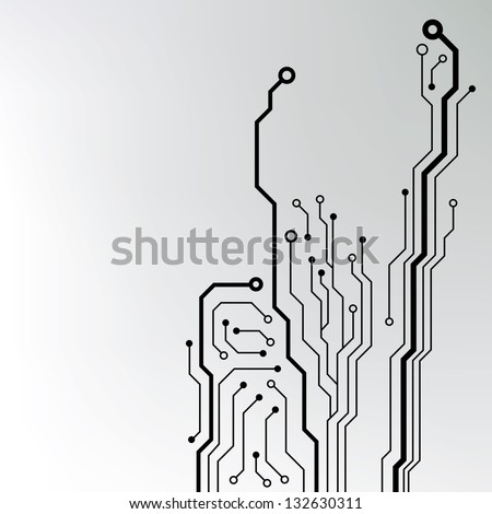 circuit board pattern. abstract technology circuit board vector background - stock vector