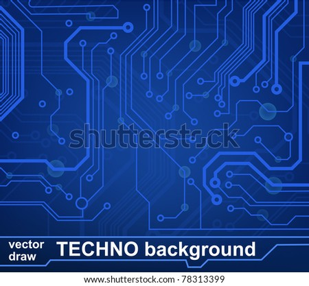 circuit board pattern. vector illustration - stock vector