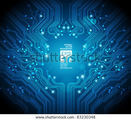 circuit board vector background - stock vector