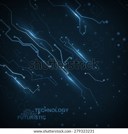 Circuit board vector background, abstract technology illustration eps10 - stock vector