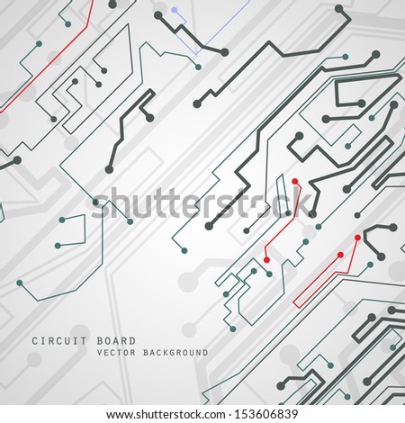 Circuit board vector background, technology illustration eps10. - stock vector