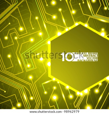 circuit board vector background, technology illustration eps10