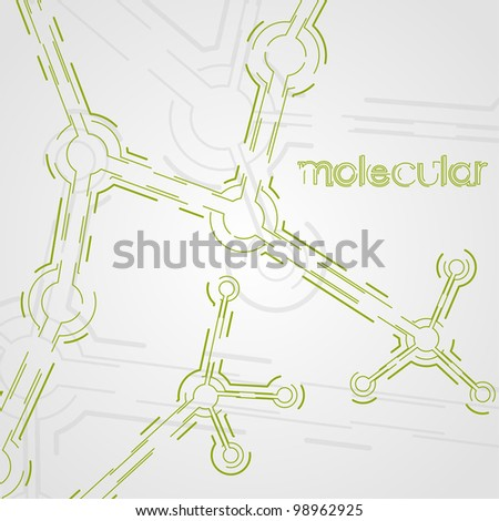 circuit board vector background, technology illustration, form of dna, molecular eps10 - stock vector