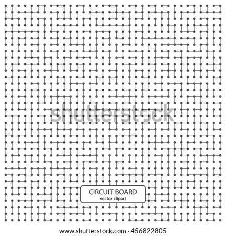 Circuit board vector computer background. Electronic pattern. - stock vector