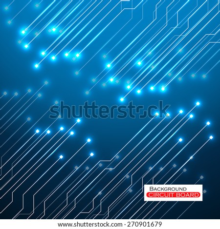 Circuit Board. Vector illustration. Eps 10 - stock vector