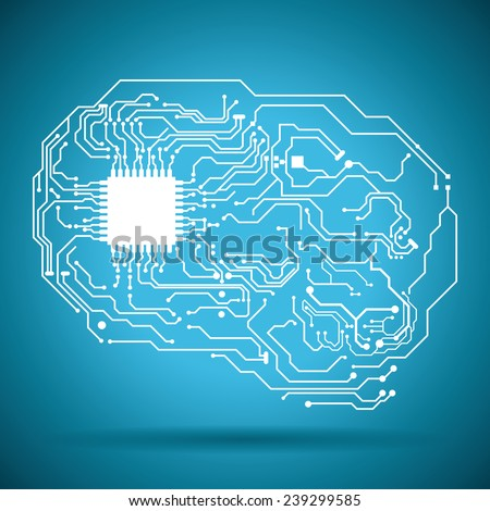 circuit electric design, vector illustration eps10 graphic  - stock vector