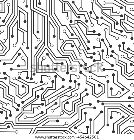 Circuit Electric Wallpaper Icon Vector Isolated Stock Vector HD ...