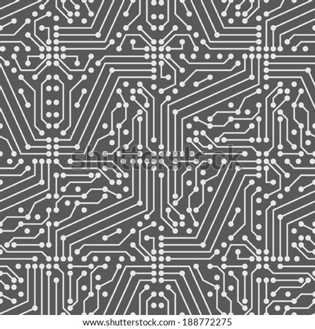 Circuit seamless vector pattern - stock vector