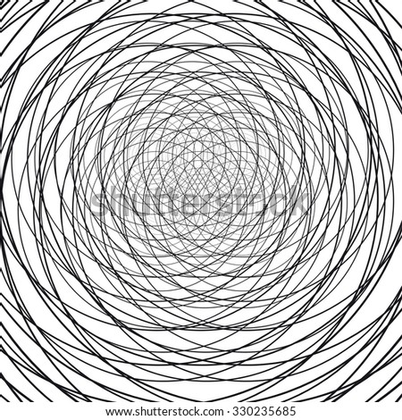 Circular abstract background. Wires. Vector Illustration - stock vector