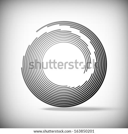 Circular abstract lines, Vector eps 10  - stock vector