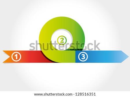 circular arrow diagram, business diagram - stock vector