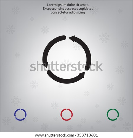 circular arrows vector icon